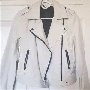 Marciano Jackets & Coats - Marciano Cream Leather Motorcycle Moto Jacket Coat